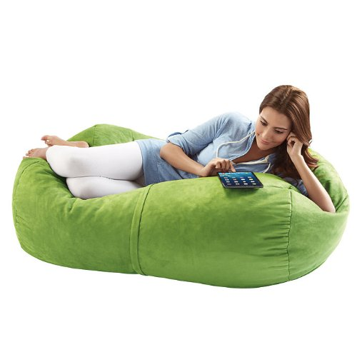 Jaxx Sofa Saxx Bean Bag Lounger, 4-Feet, Lime Microsuede (Oversized Beanbags)