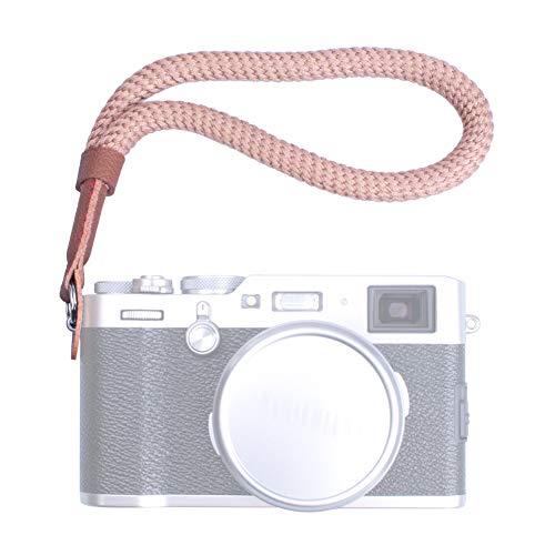 VKO Cotton Soft Camera Hand Strap, Wrist Strap Compatible with Fujifilm X-T4 X-T30 X-T3 X-T20 X-T2 X100F X100 X100S X100T J5 J4 J3 A6100 A6600 A6400 A6000 Camera Coffee
