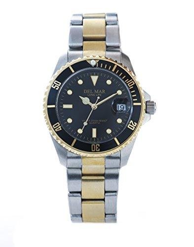 - Del Mar 50117 Mens 200 Meter Sport Dive Watch Two Tone