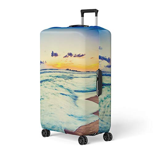 Semtomn Luggage Cover Amazing Sunset Over the Sea Beautiful Landscape Sri Lanka Travel Suitcase Cover Protector Baggage Case Fits 26-28 Inch