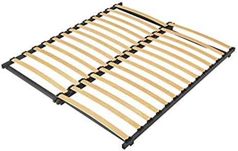 Somier de láminas (extensible)., madera, beige, 185CM (LENGTH)
