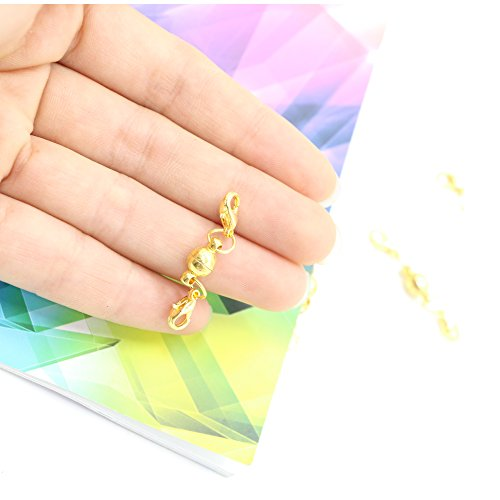Free Clever Clasp - Magic Magnetic Clever Clasp Magnetic Lock with Lobster Clasp-6mm,10PCS,Sliver & Gold