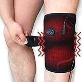 Creatrill Massaging Heated Knee Brace Wrap Heat & Massage 3 Settings Heating Pad