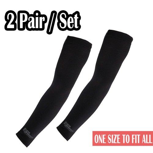 Elixir Golf (E3D-B2P) Unisex 2 Pairs of Black Cooling Arm Sleeves, Black by Elixir Golf (Image #5)