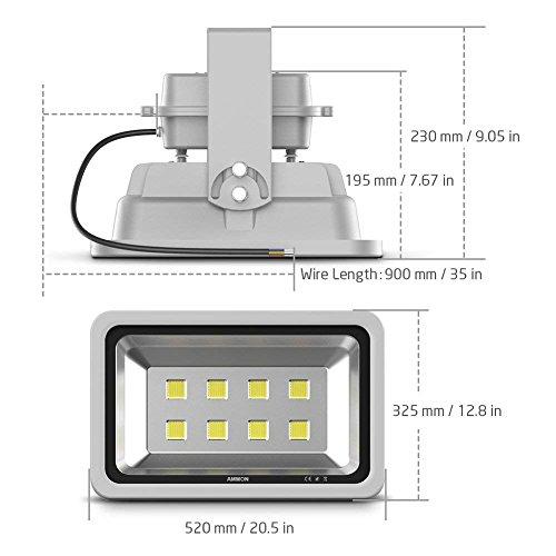 AMMON LED Flood Light 400W High Power Spotlight Cool White ... on