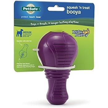 Busy Buddy Squeak N Treat Booya Dog Toy Medium
