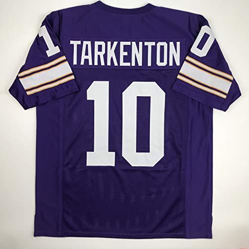 Unsigned Fran Tarkenton Minnesota Purple Custom Stitched Football Jersey Size Men's XL New No Brands/Logos