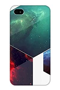 JxWwnV-453-nEkTE Tough Iphone 4/4s Case Cover/ Case For Iphone 4/4s(Abstract Hexagon) / New Year's Day's Gift
