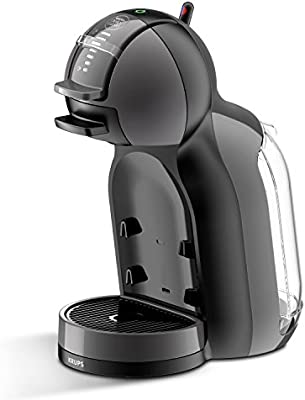 Pack Krups Dolce Gusto Mini Me KP1208 - Cafetera de cápsulas, 15 bares de presión, color negro y gris + 3 packs de café Dolce Gusto Espresso Intenso