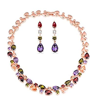 I Jewels Valentine's Special Gold Plated Multicolour Shining
