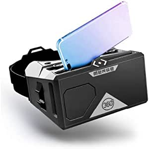 Merge VR Headset - Augmented and Virtual Reality Headset, Take Virtual Field Trips, Watch Educational 360 Degree VR Videos, STEM Tool for Classroom and Home, Works with iPhone and Android (Moon Grey)