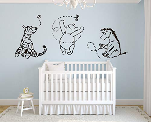 (Lovely Decals World Classic Winnie the Pooh with Tigger and Eeyore 76