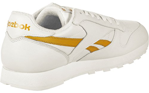 Reebok CL Leather Mu–Chaussures de Sport, Homme Blanc