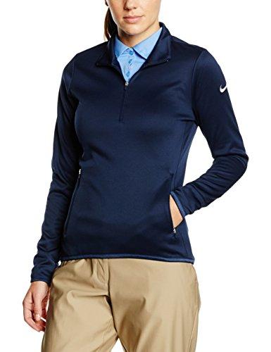 Nike Thermal 1/2 Zip - Camiseta de manga larga para mujer Azul Oscuro / Gris Oscuro