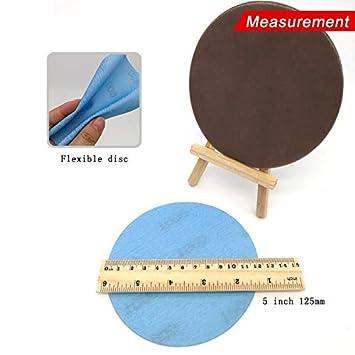 FWZJSD carta vetrata Carta abrasiva impermeabile a disco abrasivo superfine da 5 pollici 600-4000 grana per lucidatura automobilistica a secco o ad umido confezione da 10