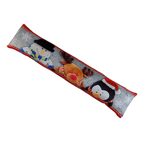 LARGE SNOWMAN RUDOLPH PENGUIN SNOWFLAKE CHRISTMAS DRAUGHT GUARD EXCLUDER 20X90CM (Penguin Rudolph)