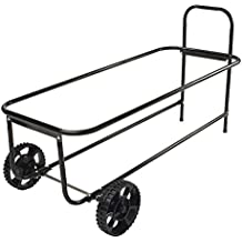 3 cu. ft. Mobile 2-Wheel Steel Garbage Can Caddy Rack with 200 lb. Capacity