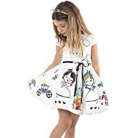 abcnature Girl Princess Dress,Girls Clothes Cute White Cartoon Dress for The Girl Princess Dress