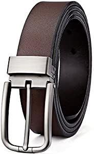 Men's Belt,Bulliant Leather Adjustable Belt for Men Dress Casual 1 3/8,Trim to