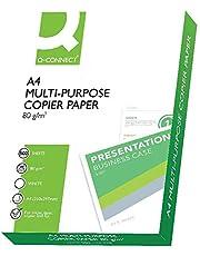 Q Connect KF01087 - Papel para impresora de tinta A4, Blanco, Paquete de 1 x 500 hojas