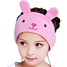 FIRIK Kids Headphones Volume Limited with Easy Adjustable Kids Costume Headband Silky Headphones for Children, Perfect for Travel and Home - Bunny