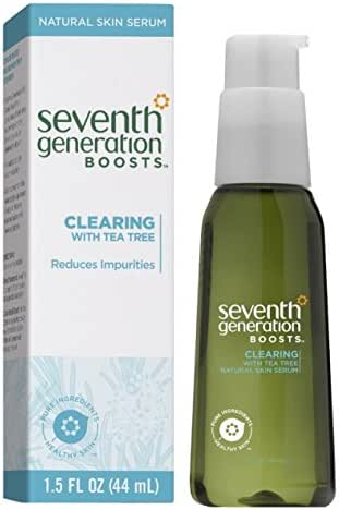 Seventh Generation Boosts - Clearing Skin Serum with Tea Tree, 1.5 Ounce (3-Pack)