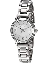 Women's 'Lila' Quartz Metal and Alloy Casual Watch, Color:Silver-Toned (Model: ZR34387)