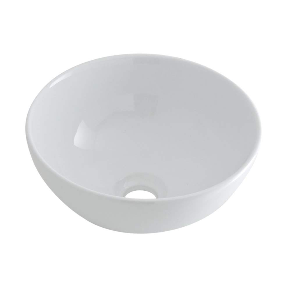 Milano Irwell  Round Counter Top White Ceramic Basin with Mirage WallMounted Sink Tap