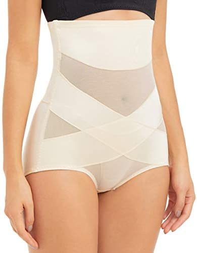 PAUKEE Women Shapewear Slimmer Body Shaper Hi-Waist Tummy Control Compression Butt Lifter Panties Girdle