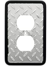 Franklin Brass 135859 Diamond Plate Single Duplex Outlet Wall Plate/Switch Plate/Cover