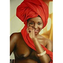 16X20 inch Figure Canvas Print The Most Beautiful Black Nude Lady