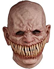 Halloween Horror Face Cover, Latex Lightweight Elastic Cosplay Old Man Headgear Prop Halloween Costume Horror Props for Adults Halloween Party