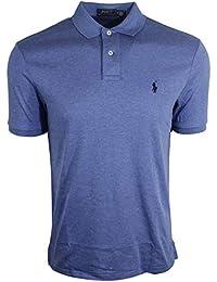 Polo Mens Medium Fit Interlock Polo Shirt-Liquid Blue...