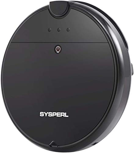 SYSPERL V10 Robot Vacuum Cleaner,Self-Charging Robotic Vacuum Cleaner,1800Pa Strong Suction, Ideal for Pet Hair,Hard Floor and Low Pile Carpet,Black.