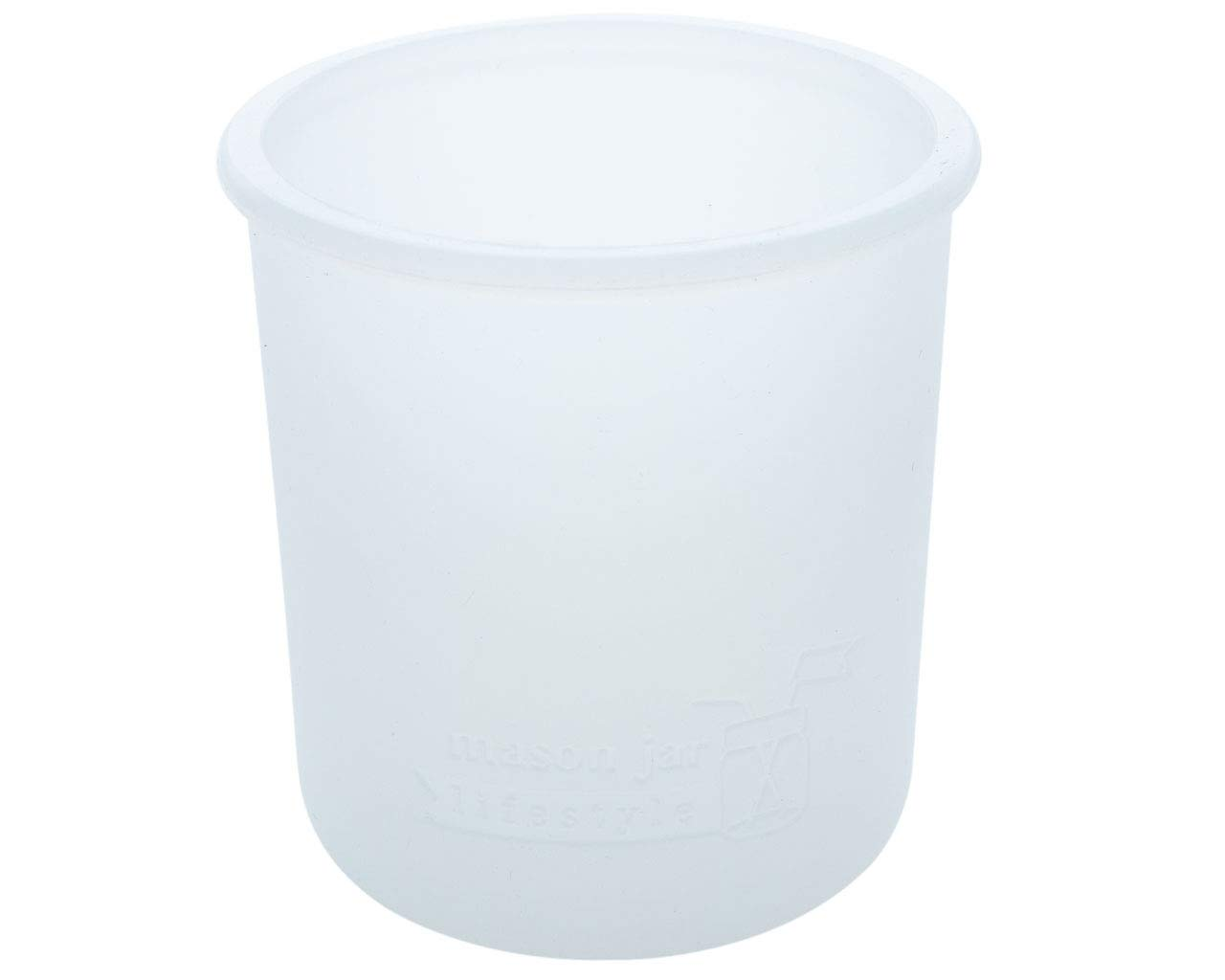MJL Regular Mouth Pint Silicone Sleeve for Mason Jars (Frost, 2 Pack)