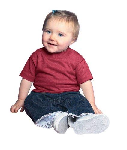 T-shirt Cardinals Football Red (Rabbit Skins 100% Cotton Blank Infant Football Jersey Tee [Size 12 Months ] Cardinal Red Short Sleeve T-Shirt)