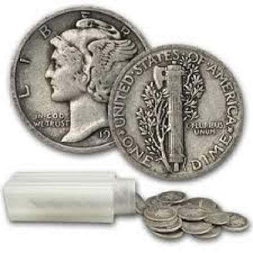 1 - Average Circulated Mercury Dime Single Coin - Date Our Choice Dime Circulated 41B-2BVj0SbL
