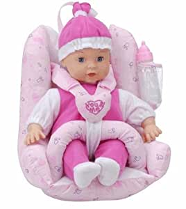 you me 12 baby doll with car seat toys games. Black Bedroom Furniture Sets. Home Design Ideas