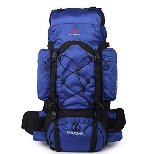 blueee1 Duffel Bag Backpack, MultiFunction Mountaineering Bag Outdoor Travel Bag 65L Gym Bag (color   blueee1)