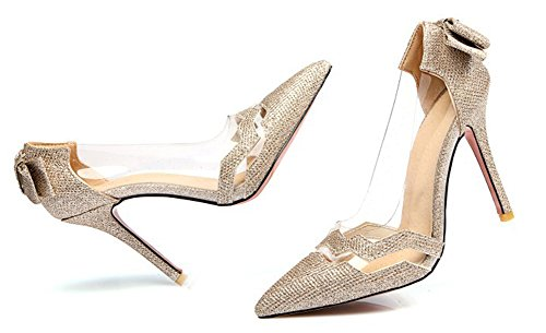 Paillettes Talon Femme Escarpins Or Transparent Chic Aisun Aiguille xIEpUpg