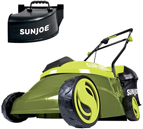 Sun Joe MJ401C-PRO 14-Inch 28-Volt Cordless Push Lawn Mower, w Rear Discharge Chute