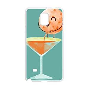 Samsung Galaxy Note 4 Cell Phone Case White_ANNOYING ORANGE Qoaid