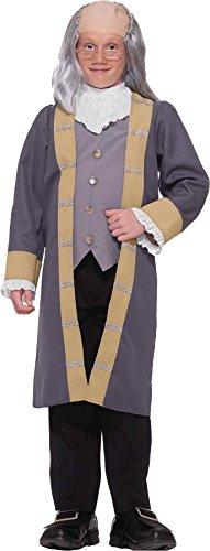 [GTH Boy's Ben Franklin Kids Child Fancy Dress Party Halloween Costume, M (8-10)] (Ben Franklin Costumes Child)