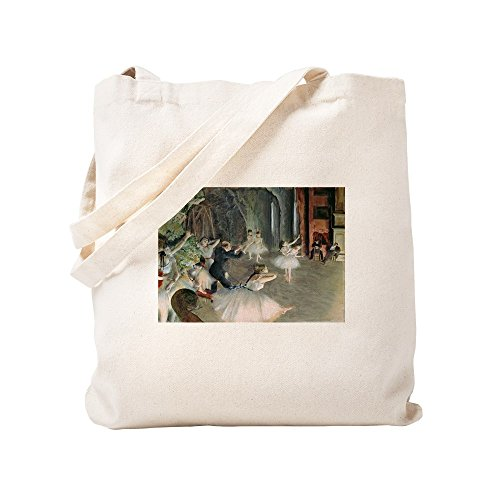(CafePress The Rehearsal Of The Ballet On Stage By Edgar Dega Natural Canvas Tote Bag, Cloth Shopping Bag)