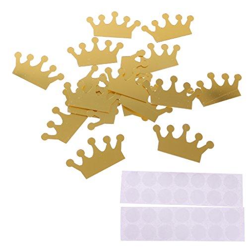 MonkeyJack 10 Pieces Princess Crown Wall Stickers DIY Decals Baby ...