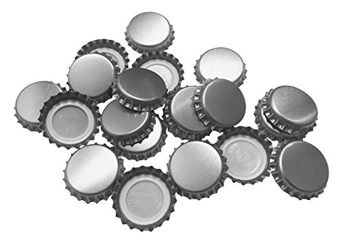 New Beer Bottle Caps Oxygen Absorbing Seal Silver Crown Caps for Home Brew or Crafts 144 Pieces