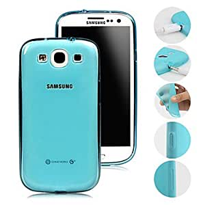 JJE sold out Solid Color Transparent with Dust Plug Case for Samsung S3 I9300