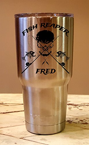 Personalized YETI 30 oz. Tumbler Fish Reaper CUSTOM Laser Engraved