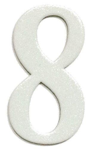 3 Inch Reflective Number (Fancy White Reflective Mailbox or House Number - 8 - Size 3