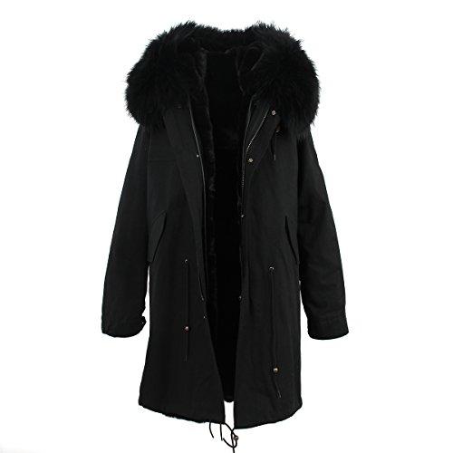S.ROMZA Women Hooded Parka Faux Fur Winter Warm Long Jack...